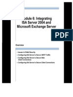 Module 6 Integrating ISA Server 2004 and Microsoft Exchange Server