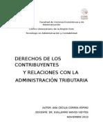 Derechos de los contribuyentes y relaciones con la Administración Tributaria.