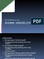 SUSUNAN SENSIBILITAS1