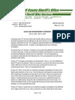 GCSO Law Enforcement Summary
