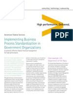 Accenture Federal Implementing Business Process Standardization in Government Organizations