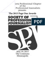 2015 Minnesota SPJ Page One Program