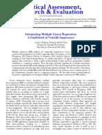 Interpreting Multiple Regression
