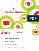 Aptis Speaking Overview