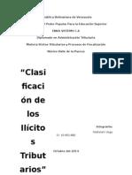 Clasificacion de Los Ilicitos Tributarios