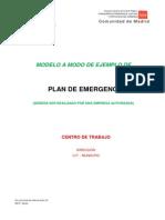 Modelo Plan de Emergencias Comunidad de Madrid