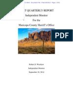 Melendres # 744 | Monitors 1st Report | d.ariz. 2-07-Cv-02513 744 Monitor's First Quarterly Report