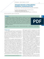 Selection of Remediation Technologies to Rehabilitate Contaminated Sites