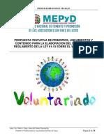 Propuestas Reglamento Ley Voluntariado
