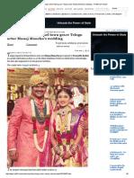 Political Big-wigs, Tinsel Towjn Grace Telugu Actor Manoj Manchu's Wedding - Rediff