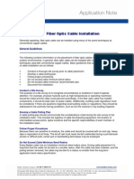 Application Note Fiber Optic Cable Installlation