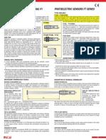 Hoja de Datos  sensor ultrasonido