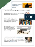 Marquette University Report Card 2014 - 2015