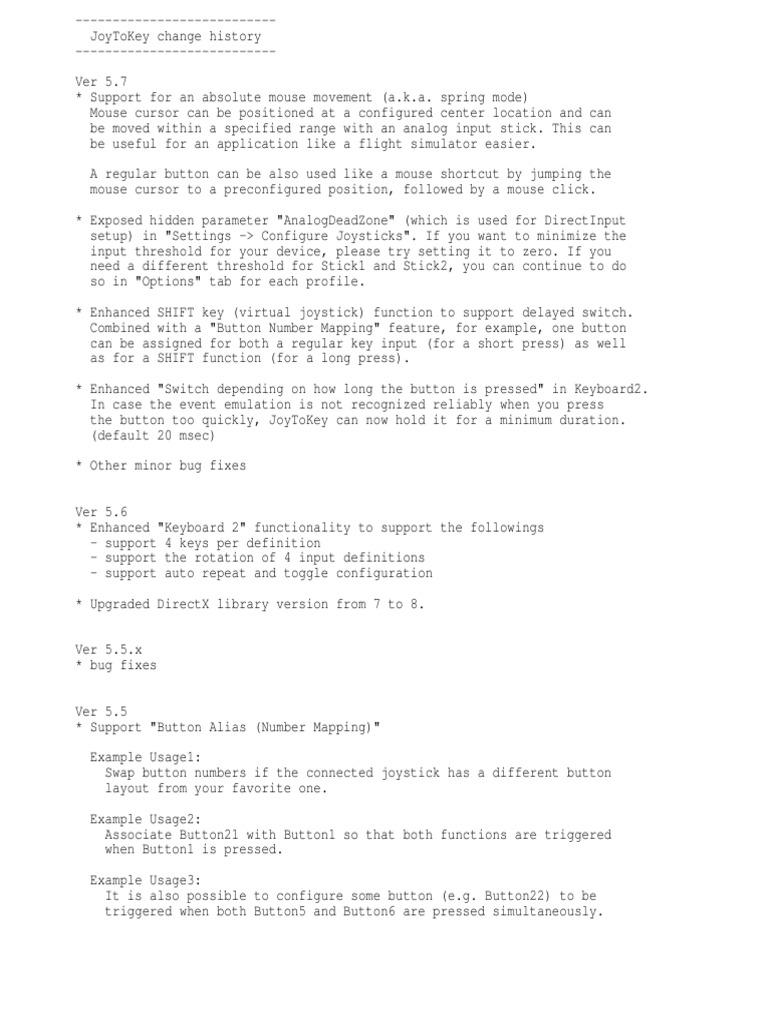 Changes Joy2Key   Windows Registry   Computer Keyboard