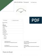 USB Male to USB Male and Mini B USB Male - Transparent - JakartaNotebook