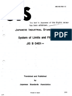 JIS B0401-1986 System of Limits and Fits
