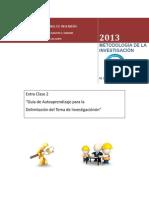 Guía Para Delimitación Del Tema de Investigación