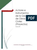 Actores e Instrumentos de La Gestion de Obras Civiles