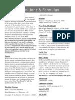Definitions & Formulas hydraulic presses