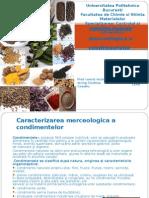 Caracterizarea Merceologica a Condimentelor