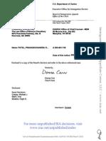Prakaschandra Rameschchandra Patel, A200 661 745 (BIA May 8, 2015)
