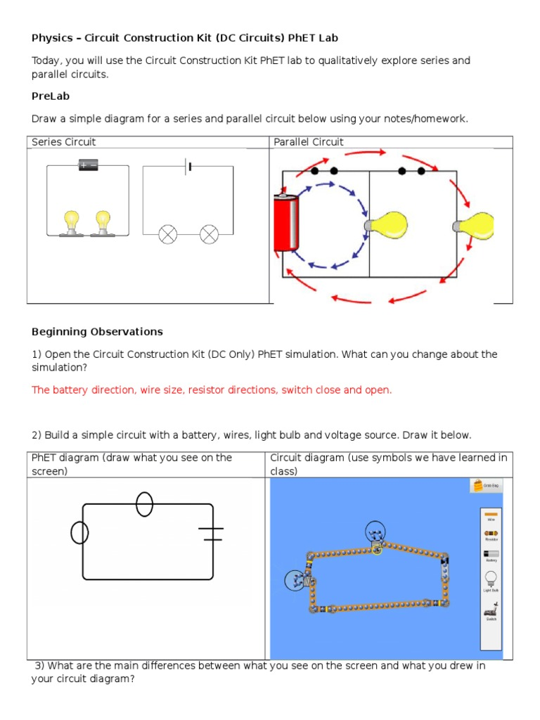Series Circ Circuit Construction Kit Michaelieclark The Difference Between A Parallel And