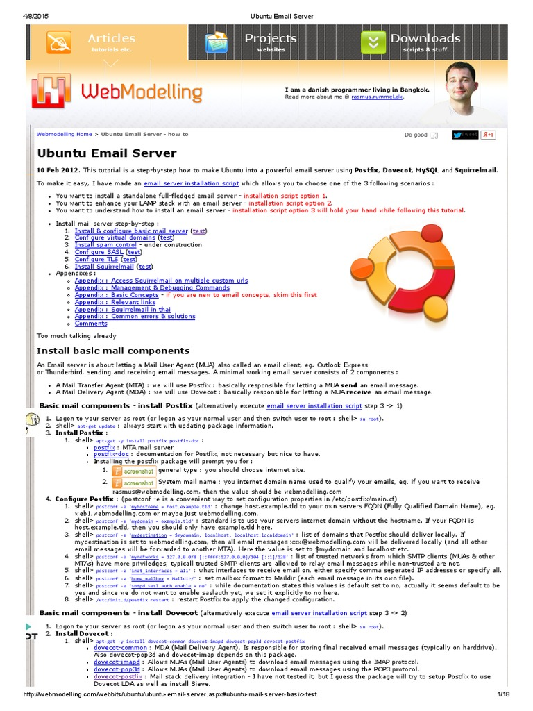 Ubuntu Email Server