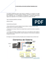Procedimiento de Instalacion de Antena Parabolicas