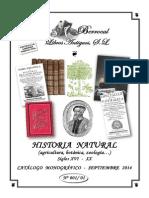 CATÁLOGO 001-01  HISTORIA NATURAL