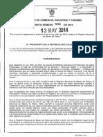 Decreto 886 Del 13 de Mayo de 2014