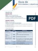 Guia de Actividades y Objetivos Unidad 2