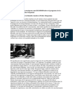 Sobre El Programa de La Filosofía Venidera - Benjamin