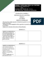 PLANEACIÓN ACADEMICA Metodologia de La Lectura