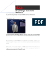 07-05-2015 Sexenio Puebla - Moreno Valle Participa en El Foro Económico Mundial