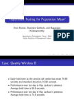 Hypothesis Testing of Population Mean