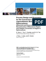Process Design and Economics for the Conversion of the Lignocellulosic to Hydrocarbons