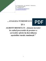 Analiza Turismului Si Agroturismului