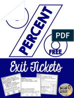 Percent Exit Tickets Free