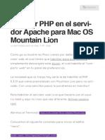 Habilitar PHP en El Servidor Apache Para Mac OS Mountain Lion