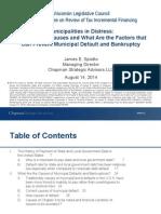 Municipalities in Distress -- Factors Responsible James Spiotto 2014