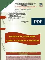 Divergencia y Rotacional, Coordenadas Cilíndricas y Esféricas_Presentación_18 Diapositivas
