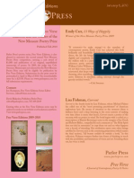 Free Verse Press Release 2010