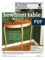 Bow Front Table Plan