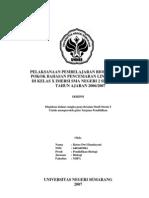 Pelaksanaan Pembelajaran Biologi Pada Pokok Bahasan Pencemaran