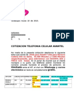 Cotizacion Modelo Lte