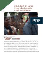 Tamils in North & East Sri Lanka Remember Those Killed Despite Intimidation and Surveillance