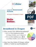 Oregon DGS 15 Presentation - Impact of Broadband in Oregon Jeff Heckman