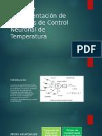 Diseño e Implementación de Sistemas de Control Neuronal