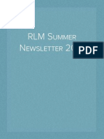RLM Summer Newsletter 2015