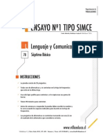Ensayo1 Simce Lenguaje 7 basico 2014